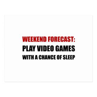 Play Video Games Sleep Postcard