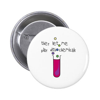 Play with Chemicals 2 Inch Round Button
