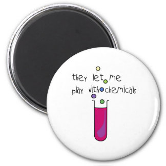 Play with Chemicals 2 Inch Round Magnet