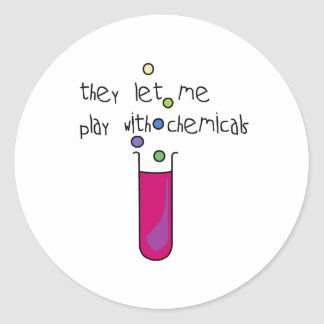 Play with Chemicals Classic Round Sticker