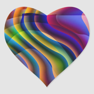 Play With Colours Heart Sticker