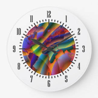 Play With Colours World Map Large Clock