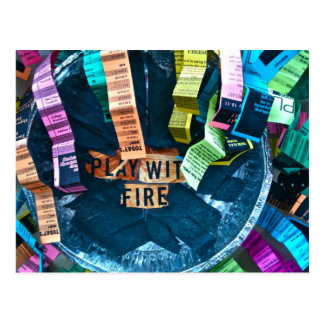 Play with Fire Postcard