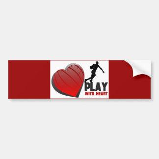 Play With Heart Basketball Bumper Sticker