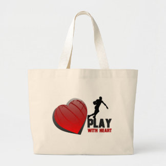 Play With Heart Basketball Large Tote Bag