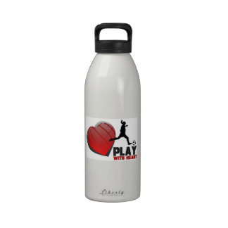 Play With Heart Girls Soccer Liberty Bottle Water Bottles