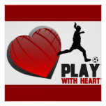 Play With Heart Girls Soccer Poster