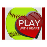 Play With Heart Softball Poster