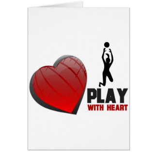 PLAY WITH HEART VOLLEYBALL CARD