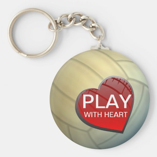 Play With Heart Volleyball Keychain