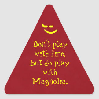 Play With Magnolia Triangle Sticker