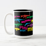 Play with me! mug - black-multicolor