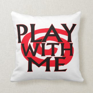 Play With Me Swirly Throw Pillow