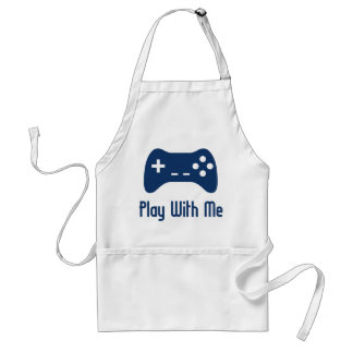 Play With Me Video Game Adult Apron