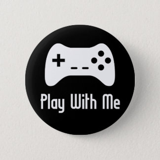 Play With Me Video Game (black) Button