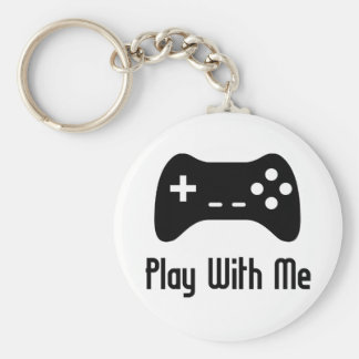 Play With Me Video Game Keychain