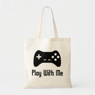 Play With Me Video Game Tote Bag