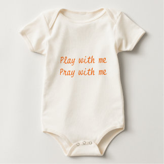 Play with mePray with me Baby Bodysuit