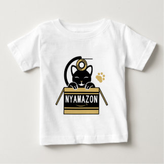 Play with the gummed cloth tape the cardboard baby T-Shirt
