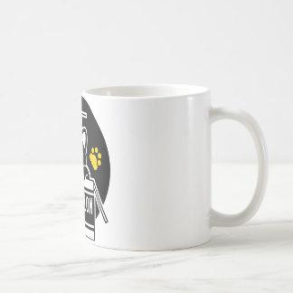 Play with the gummed cloth tape the cardboard coffee mug