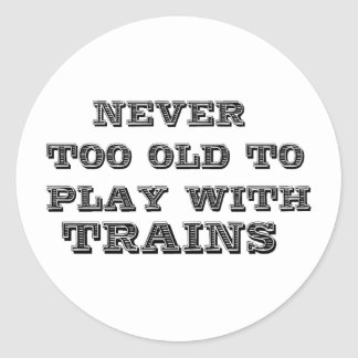 Play with trains classic round sticker