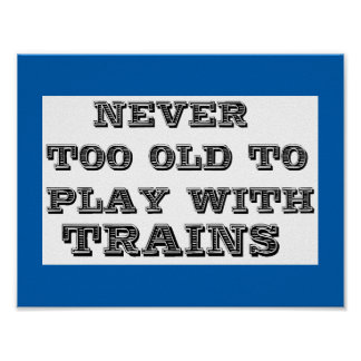 play with trains poster