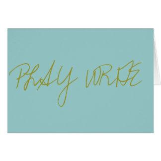 PLAY WRITE CARD