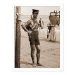 Playa 1905 de Brighton del salvavidas Tarjeta Postal