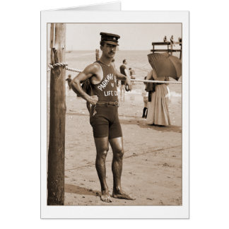Playa 1905 de Brighton del salvavidas Tarjetas