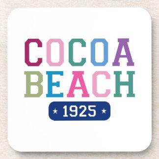 Playa 1925 del cacao posavasos de bebida