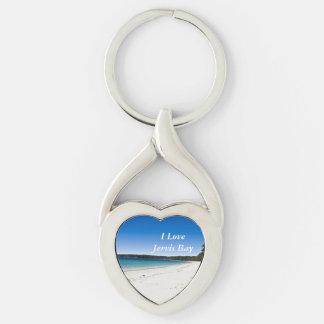 Playa 1 de Bristol Llavero Plateado En Forma De Corazón