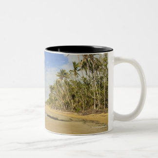 Playa 2 de la misión taza de café de dos colores