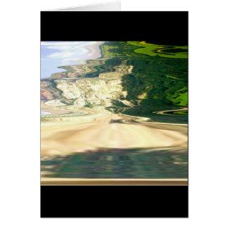 Playa 3 del volcán tarjeta de felicitación