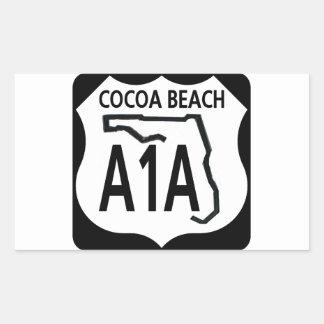 Playa A1A del cacao Pegatina Rectangular