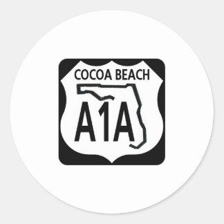 Playa A1A del cacao Pegatina Redonda