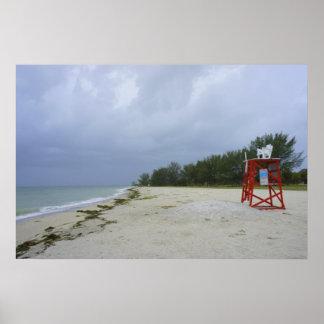 Playa abandonada póster