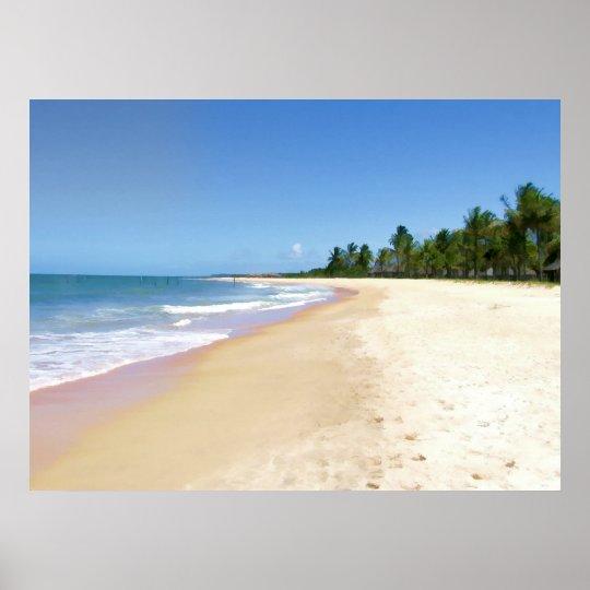 Playa abandonada sola póster