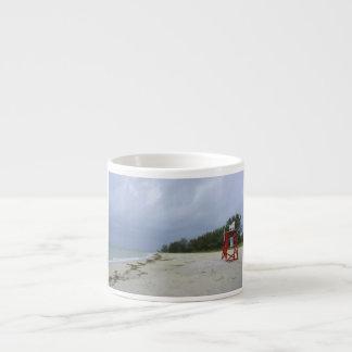 Playa abandonada taza espresso