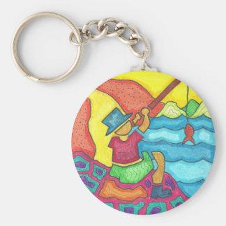 Playa abstracta llavero personalizado
