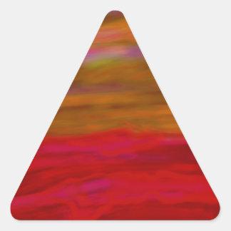 playa abstracta calcomanías trianguladas personalizadas
