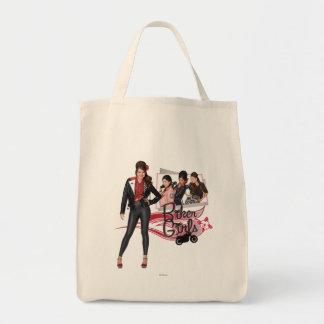 Playa adolescente - chicas del motorista bolsa tela para la compra