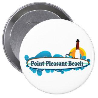 Playa agradable del punto pin