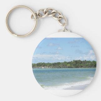 Playa aislada de Nápoles Llavero Redondo Tipo Pin