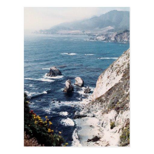 Playa aislada postal