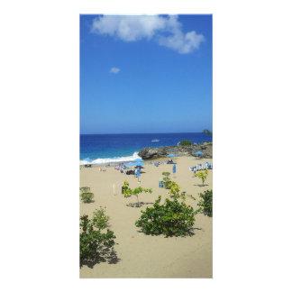 PLAYA ALCIA BEACH SOSUA DOMINICAN REPUBLIC SURF OC PHOTO CARD