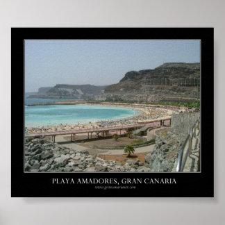 Playa Amadores, Gran Canaria Póster