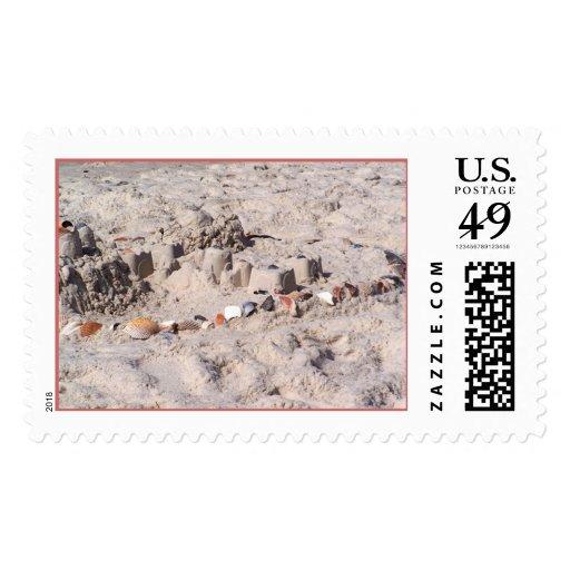 Playa anaranjada 19 sello postal
