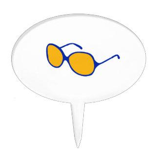 playa anaranjada glasses.png de la lente del marco decoración de tarta