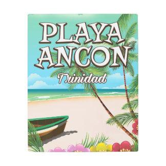 Playa Ancón Trinidad travel poster