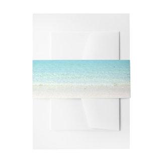 Playa arenosa blanca de PixDezines Lazos Para Invitaciones De Boda